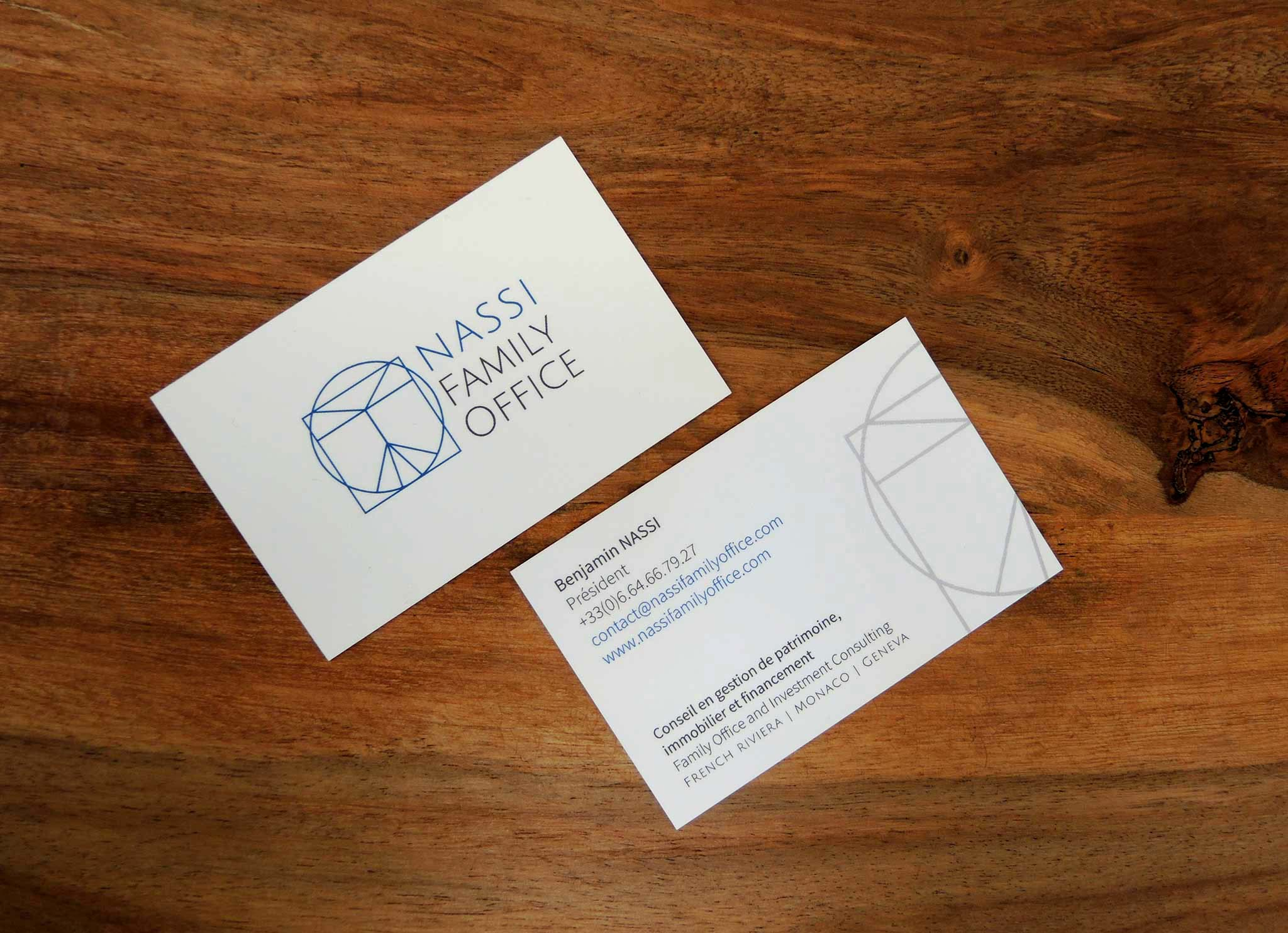 family office business card